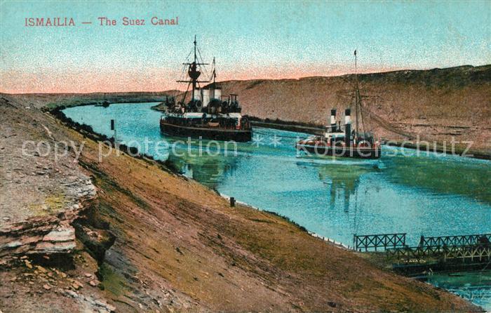 AK / Ansichtskarte Ismailia Suez Kanal Schiffe Ismailia