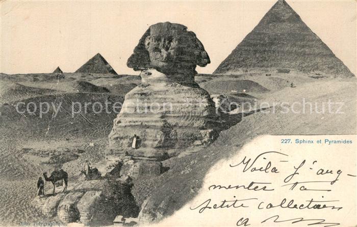 AK / Ansichtskarte Gizeh Pyramiden Sphinx Gizeh