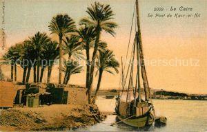 AK / Ansichtskarte Caire_Aegypten_Le Bruecke Kasr el Nil Caire_Aegypten_Le