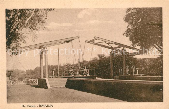 AK / Ansichtskarte Ismailia Hebebruecke Ismailia