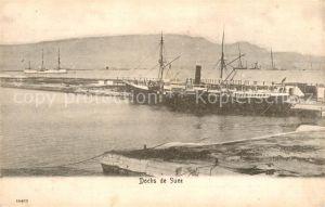 AK / Ansichtskarte Suez Hafendocks Suez