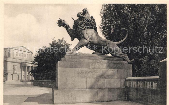 Ak Ansichtskarte Darmstadt Denkmal Des Hessischen Leibgarde Inf