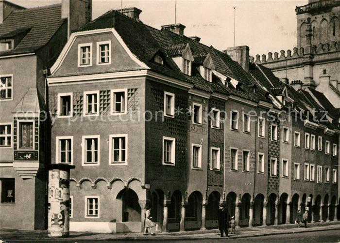 AK / Ansichtskarte Poznan_Posen Historische Haeuser in der Altstadt Poznan Posen