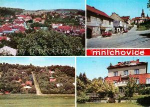 AK / Ansichtskarte Mnichovice Celkovy pohled Namesti Chatova osada Jidasky Budova podniku Orgaprojekt Praha Mnichovice
