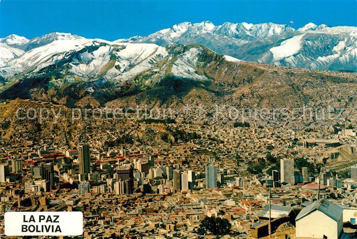AK / Ansichtskarte La_Paz_Bolivia Zona central Cordillera de los Andes La_Paz_Bolivia