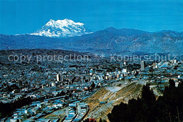 AK / Ansichtskarte La_Paz_Bolivia Vista panoramica con Monte Illimani Cordillera de los Andes La_Paz_Bolivia