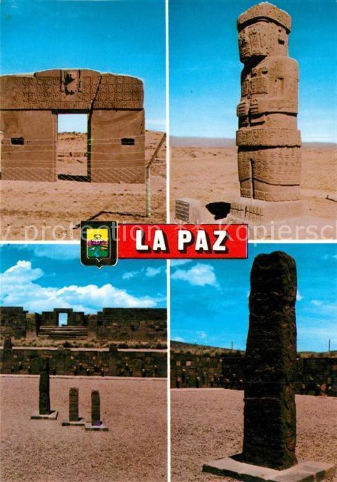 AK / Ansichtskarte La_Paz_Bolivia Distintas ruinas de Tiahuanaco La_Paz_Bolivia