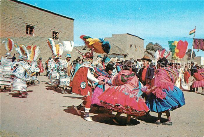 AK / Ansichtskarte Bolivien Danzas tipicas de altiplano Folkloretanz Bolivien