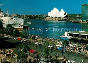 AK / Ansichtskarte Sydney_New_South_Wales Circular Quay with Overseas Terminal Opera Sydney_New_South_Wales