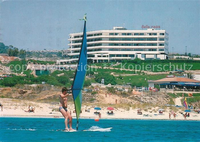 AK / Ansichtskarte Ayia_Napa_Agia_Napa Bella Napa Bay Hotel Strand Windsurfen Ayia_Napa_Agia_Napa