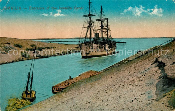 AK / Ansichtskarte Ismailia Einfahrt Segelschiff Ismailia Canal Ismailia
