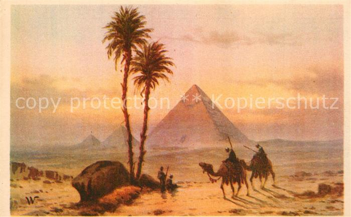 AK / Ansichtskarte Gizeh Pyramiden Kamele  Gizeh