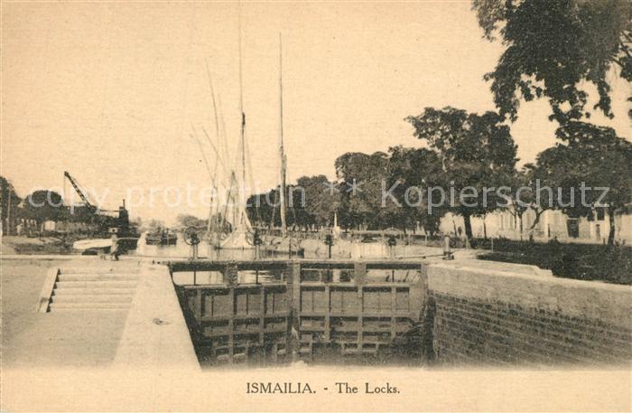 AK / Ansichtskarte Ismailia Schleuse Segelboote Ismailia