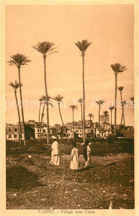 AK / Ansichtskarte Cairo_Egypt Village near Cairo Cairo Egypt