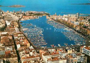 AK / Ansichtskarte Marseille_Bouches du Rhone Vieux port vue aerienne Marseille