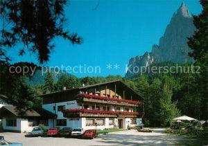 AK / Ansichtskarte Seis_Schlern Gasthof Restaurant Ritterhof Ritterkeller Dolomiten Seis_Schlern