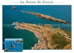 AK / Ansichtskarte Cancale Pointe du Grouin Cote d Emeraude vue aerienne Cancale