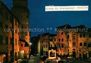 AK / Ansichtskarte Gimignano Citta di San Gimignano La Cisterna Palazzo Tortoli Gimignano