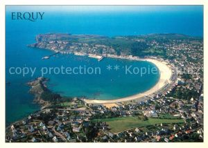 AK / Ansichtskarte Erquy Plage du Bourg Pointe de la Houssaye Cap d Erquy vue aerienne Erquy
