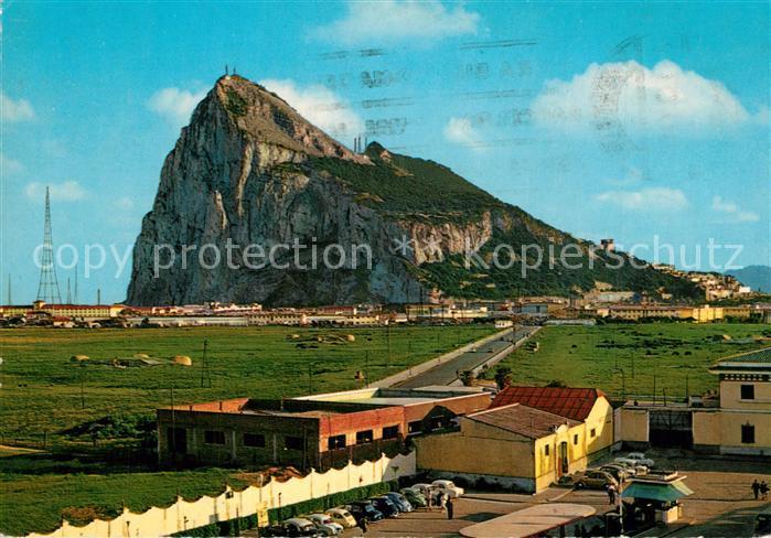 AK / Ansichtskarte Gibraltar North view of the Rock of Gibraltar Felsen Gibraltar 0