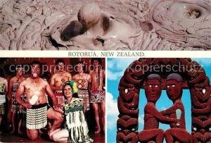 AK / Ansichtskarte Rotorua Boiling Mud Pokarekare Ana Love Scene Hinemoa Tutanekai Rotorua