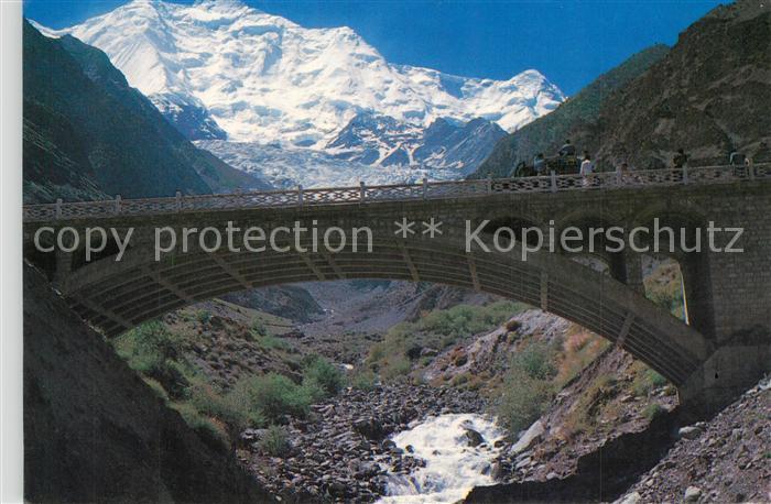 AK / Ansichtskarte Hunzatal Rakha Poshi Mountain Bridge
