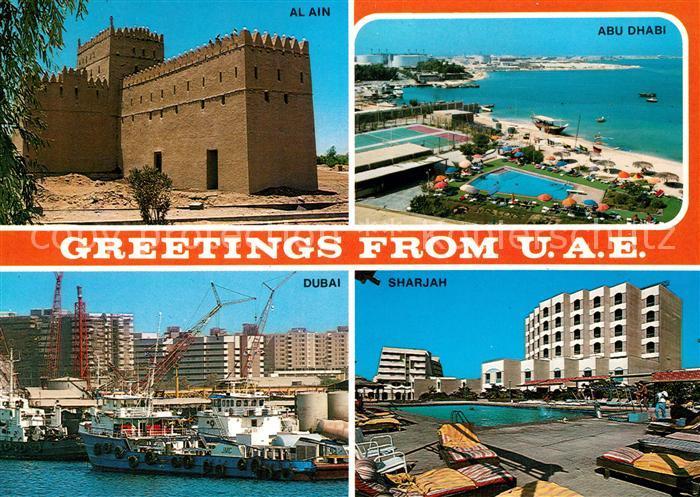 AK / Ansichtskarte Vereinigte Arabische Emirate Al Ain Abu Dhabi Dubai Sharjah Vereinigte Arabische Emirate