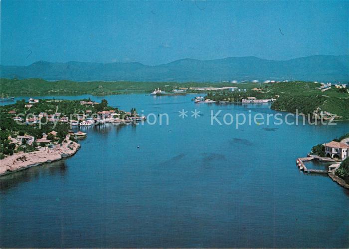 AK / Ansichtskarte Santiago_de_Cuba Entrada al puerto Hafeneinfahrt Fliegeraufnahme Santiago_de_Cuba