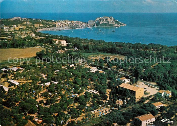 AK / Ansichtskarte Calvi Vue generale et Camping Paduella vue aerienne Calvi