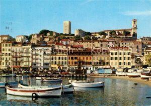AK / Ansichtskarte Cannes_Alpes Maritimes Un coin du port et le Suquet Cannes Alpes Maritimes
