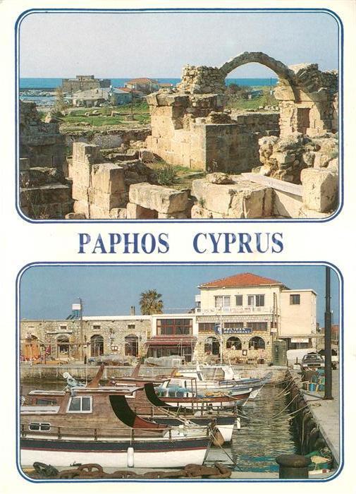 AK / Ansichtskarte Paphos Ruinen Hafen Restaurant Paphos