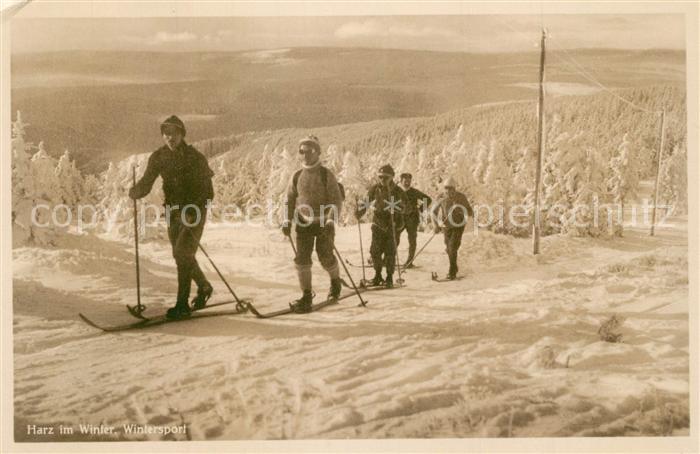 AK / Ansichtskarte Ski Langlauf Harz Wintersport