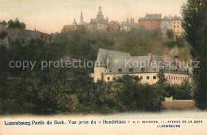 AK / Ansichtskarte Luxembourg_Luxemburg Partie du Bock Vue prise du Hundshaus Luxembourg Luxemburg
