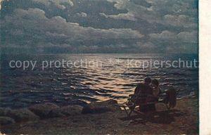 AK / Ansichtskarte K?nstlerkarte G. O. Kalmykoff Mondnacht am Meer