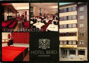 AK / Ansichtskarte Oostende_Ostende Hotel Bero Bar Zimmer Gastraum