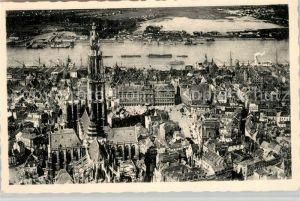 AK / Ansichtskarte Antwerpen_Anvers Vue aerienne Cathedrale Grand Place l'Escaut et rive gauche Antwerpen Anvers