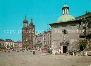 AK / Ansichtskarte Krakow_Krakau Kirche Rathaus Krakow Krakau