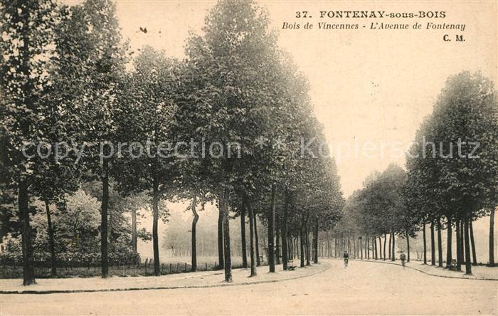 AK / Ansichtskarte Fontenay sous Bois Bois de Vincennes Avenue de Fontenay Fontenay sous Bois