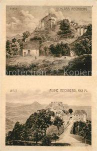 AK / Ansichtskarte Ried_Traunkreis Schloss Ruine Rechberg einst und jetzt Kuenstlerkarte Ried Traunkreis