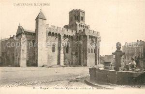 AK / Ansichtskarte Royat_Puy_de_Dome Place de l Eglise et la vieille fontaine Royat_Puy_de_Dome