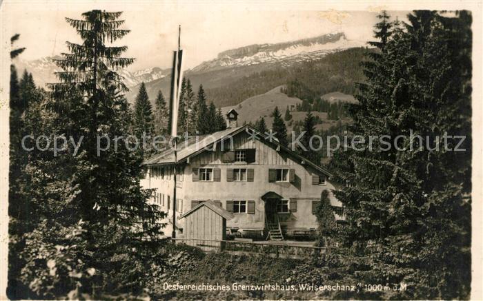 AK / Ansichtskarte Riezlern_Kleinwalsertal_Vorarlberg oesterreichische Grenzwirtshaus Walserschanz Riezlern_Kleinwalsertal