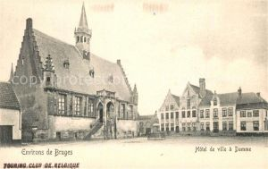 AK / Ansichtskarte Damme_West Vlaanderen Hotel de Ville Damme_West Vlaanderen