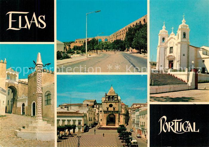 AK / Ansichtskarte Elvas Festung Santa Luzia Aquaedukt Kirche Elvas