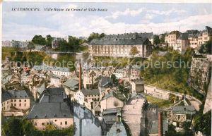 AK / Ansichtskarte Luxembourg_Luxemburg Ville Basse du Grund et Ville haute Luxembourg Luxemburg