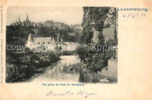 AK / Ansichtskarte Luxembourg_Luxemburg Vue prise du Pont du Hundhaus Luxembourg Luxemburg