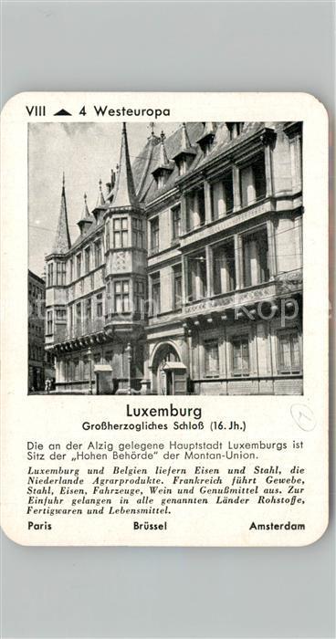 AK / Ansichtskarte Luxembourg_Luxemburg Spielkarte Luxembourg Luxemburg