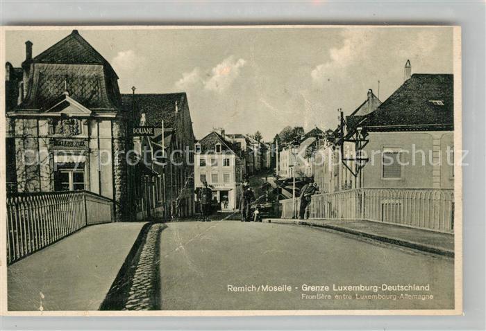 AK / Ansichtskarte Remich Moselle Grenze Luxemburg Deutschland Remich
