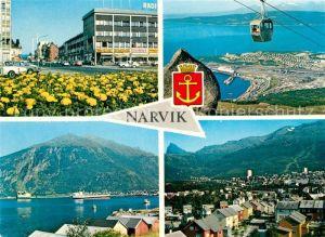 AK / Ansichtskarte Narvik Ortsansicht Seilbahn Panorama Narvik