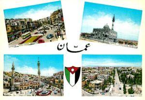 AK / Ansichtskarte Amman King Faisal Square Ashrafieh Mosque El Hussein Mosque Residential Quarter Amman