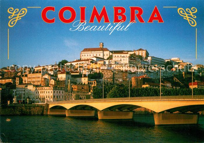 AK / Ansichtskarte Coimbra Stadtblick Bruecke Coimbra